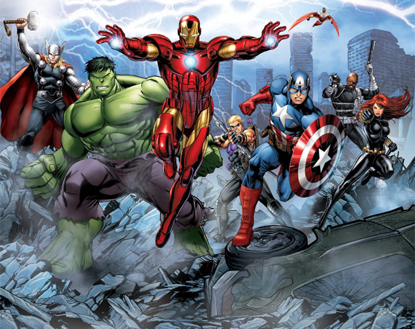 Avengers assemble full wall mural for Avengers wall mural