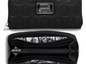 Avengers Black Embossed Zip-Around Wallet