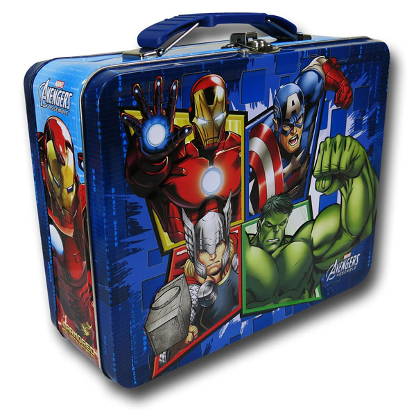 Avengers Blue Square Tin Lunch Box