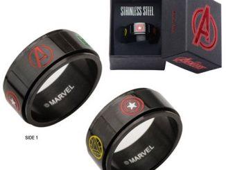 Avengers Characters Logo Spinner Stainless Steel Ring