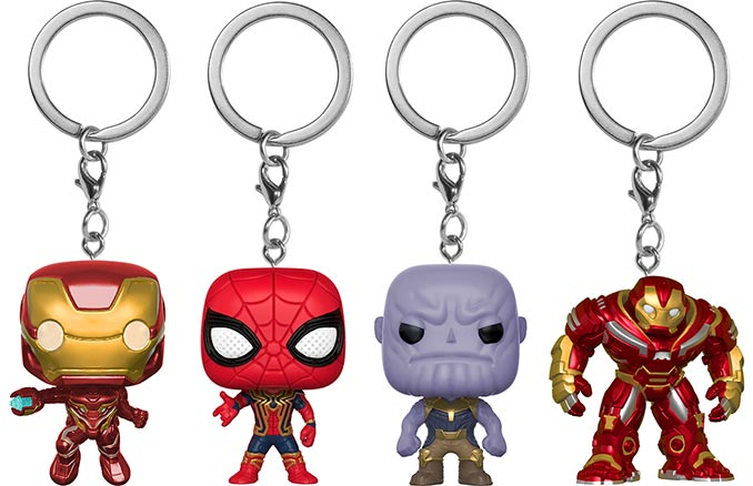 Avengers: Infinity War Funko Pocket Pop! Keychains