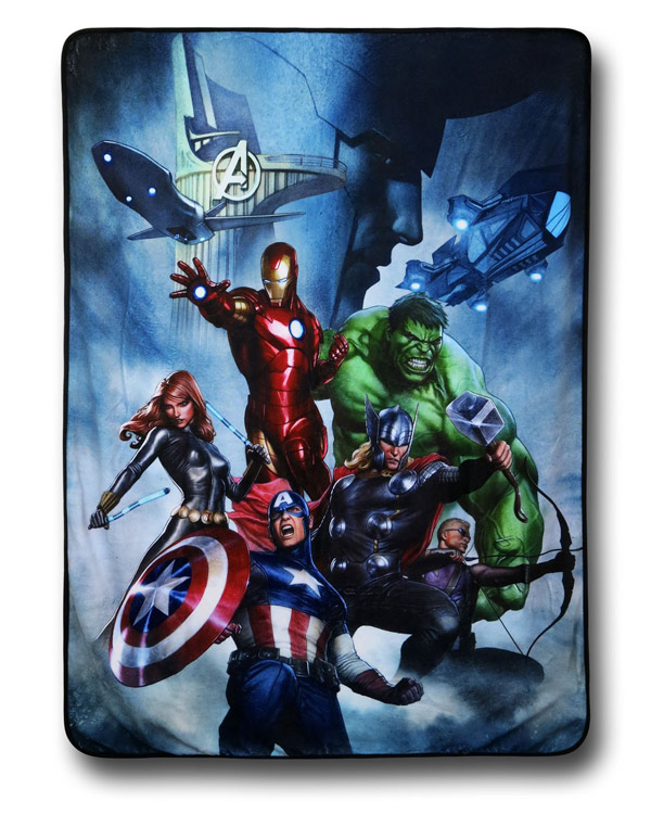 Avengers Ominous Loki Fleece Throw Blanket