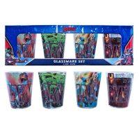 Avengers Superheroes Mini-Glass 4-Pack