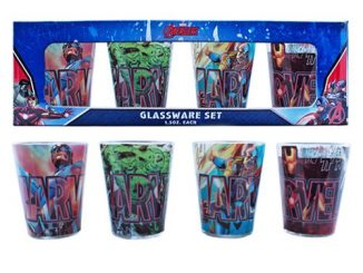 Avengers Superheroes Mini-Glass 4-Pack