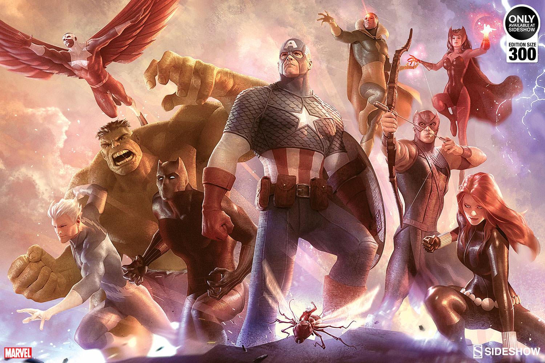 Avengers Team Cap And Team Iron Man Art Prints