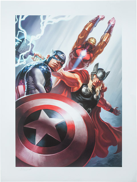 Avengers Trinity Premium Art Print
