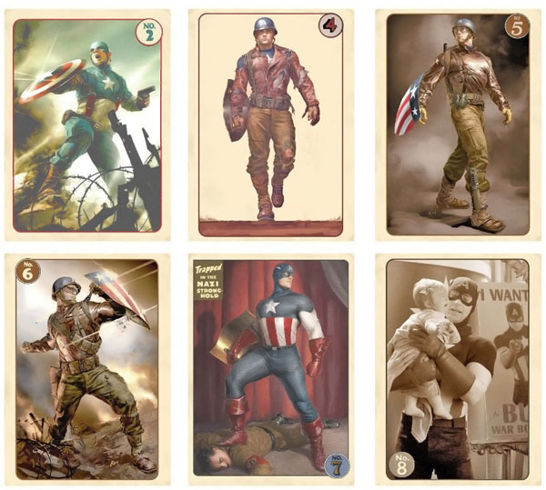 Avengers Vintage Captain America Trading Card Set
