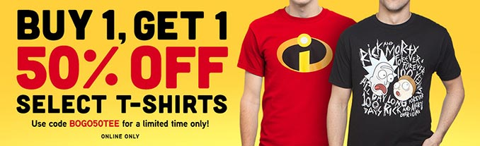 BOGO 50% Off T-Shirts at ThinkGeek