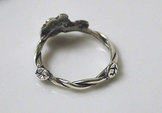 Baby Groot Silver Ring