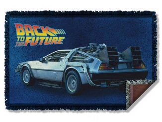 Back To The Future Delorean Woven Tapestry Blanket
