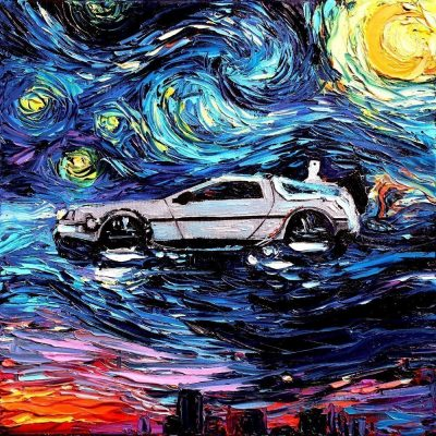 Back To The Future Starry Night Print