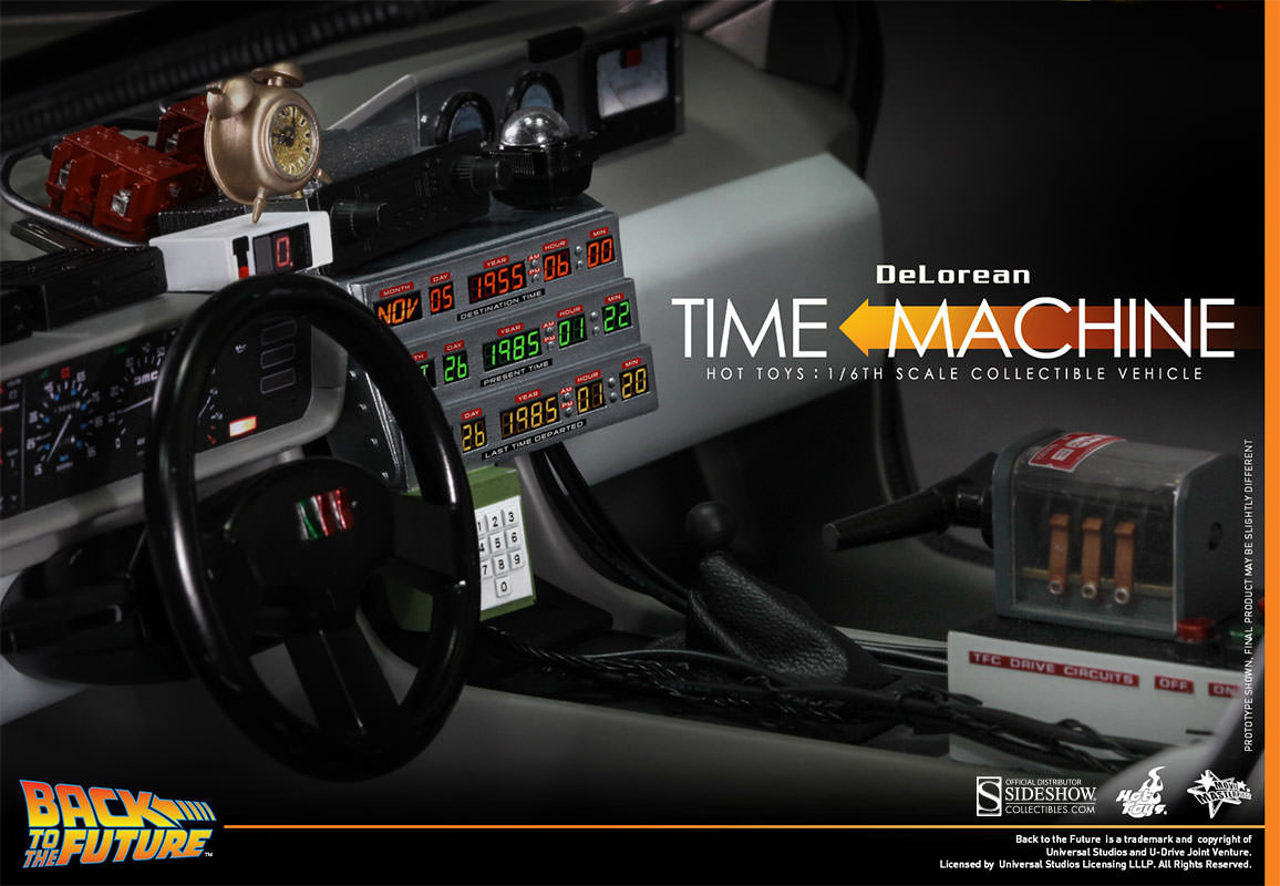 Back To The Future Delorean Sixth Scale Collectible Vehicle Dashboard