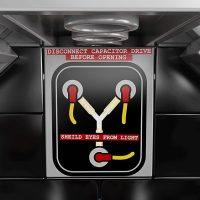 Back to the Future DeLorean Time-Machine Building Set Flux Capacitor
