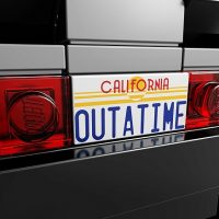 Back to the Future DeLorean Time-Machine Building Set License Plate