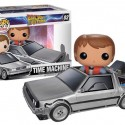 Back to the Future DeLorean Time Machine Pop Vehicle with Marty McFly