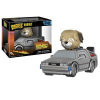 Back to the Future Delorean Dorbz Ridez with Einstein Vinyl Figure