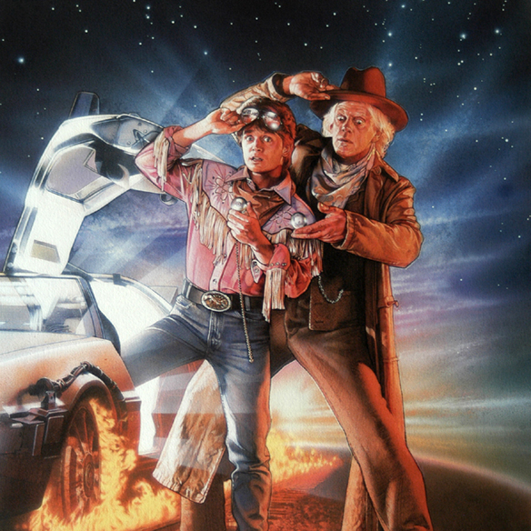 Back to the future iii special limited edition art print that makes it