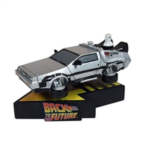 Back to the Future Part II DeLorean Time Machine Premium Motion Statue