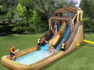Inflatable Backyard Log Flume