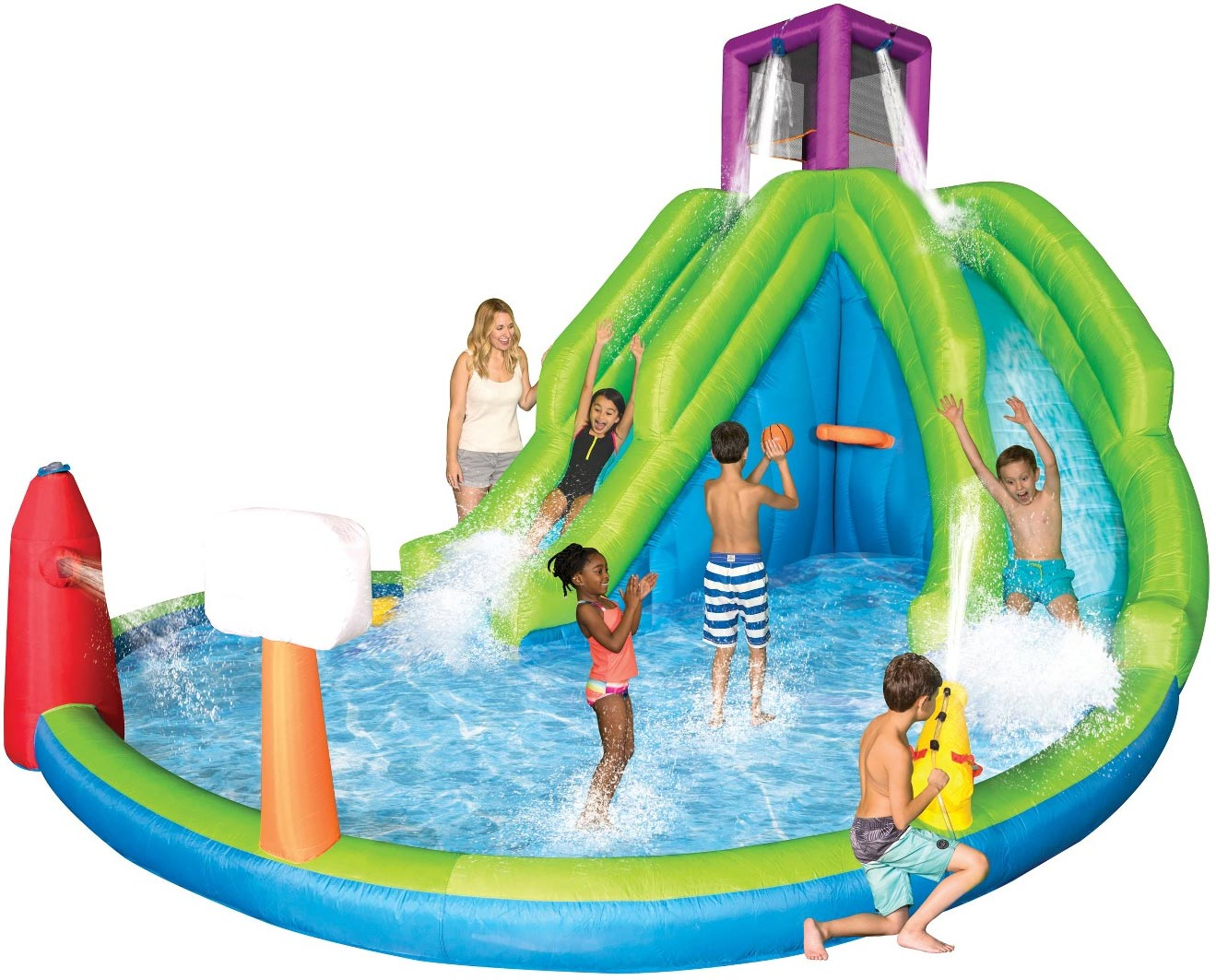 Backyard Waterslide backyard water slide park & splash pool – geekalerts