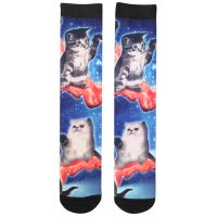 Bacon Cats Mens Crew Socks