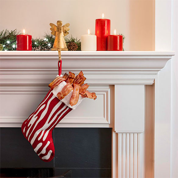 Bacon stocking for Bacon christmas tree decoration