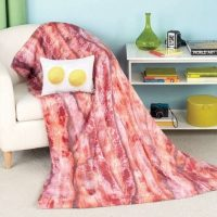 Bacon Eggs Blanket Pillow Set