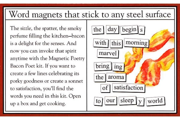 Bacon Poet – Magnetic Poetry