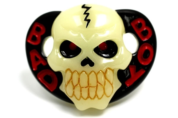 Bad Boy Glow in the Dark Skull Pacifier