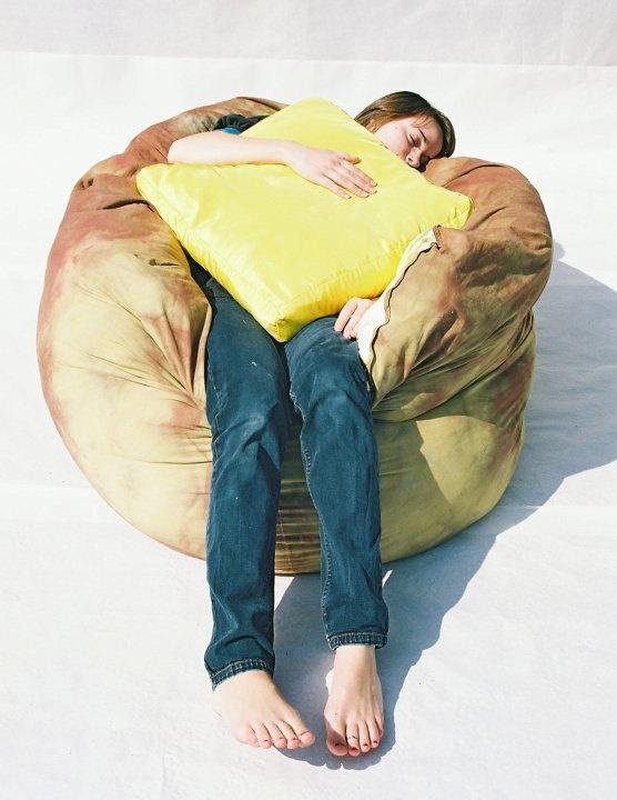 Baked Potato Bean Bag Chair w Butter Pillow