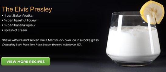 Bakon Premium Vodka Elvis Presley Recipe