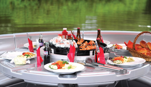 Barbecue Dining Boat table