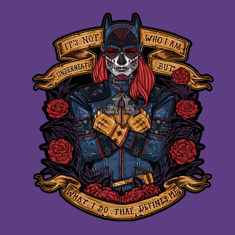 Batgirl Day of the Dead Heroine Shirt