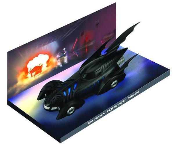 Batman 1995 Batmobile Die Cast Vehicle with Magazine