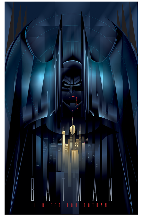 Batman 75 I Bleed for Gotham Art Print
