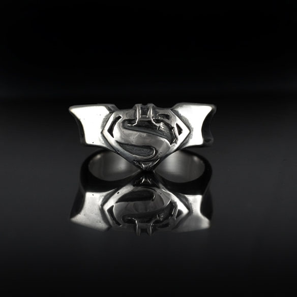 Batman And Superman Ring