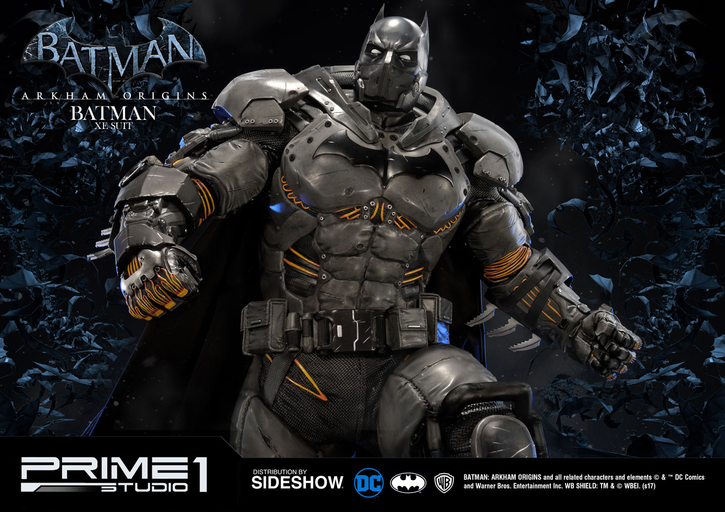 batman arkham origins batman xe suit statue
