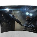 Batman Arkham Origins Batman vs Deathstroke Curved Glass StarFire Print