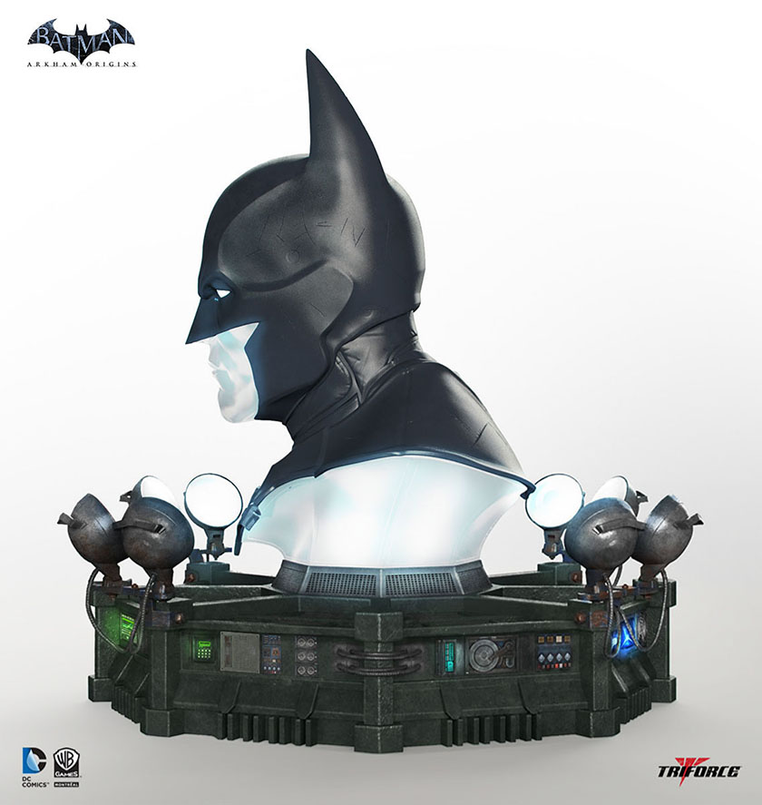 Batman Arkham Knight Batcave: Batman Arkham Origins Cowl Full-Scale Replica