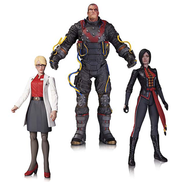 Batman Arkham Origins Electrocutioner Harleen Quinzel and Lady Shiva Action Figure 3-Pack