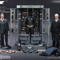 Batman Armory With Bruce Wayne And Alfred Pennyworth Sixth Scale Figure Set Accessories