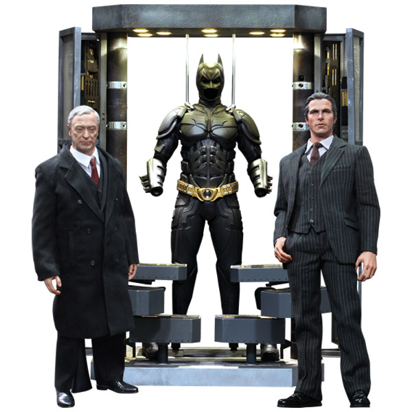 Batman Armory With Bruce Wayne And Alfred Pennyworth Sixth Scale Figure Set