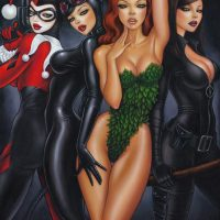 Batman Bad Girls Poster Print