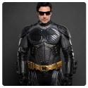 Batman Begins Leather Jacket NOMEX Pre-Suit Replica with Bat Logo