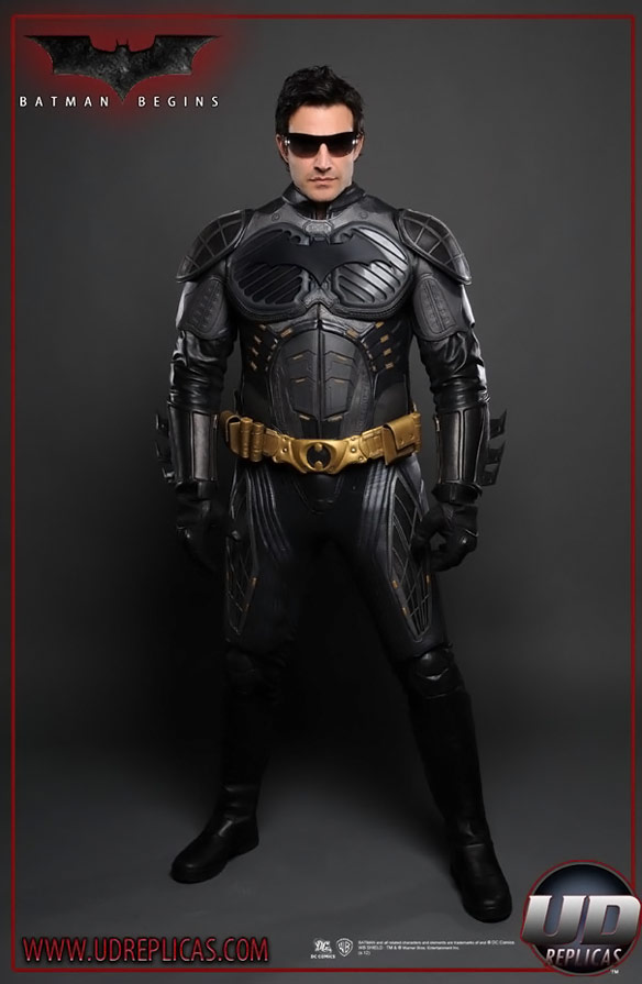 Batman Begins Leather Jacket NOMEX Suit Replica