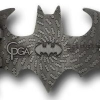 Batman Belt Buckle Brushed Silver