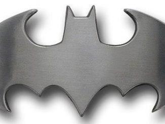Batman Belt Buckle Brushed Silver Symbol