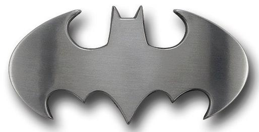 Batman Belt Buckle Brushed Silver Symbol