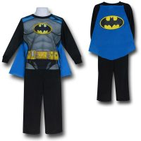 Batman Caped Costume Kids Pajama Set