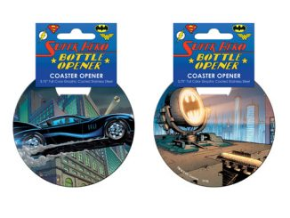 Batman Car Chase Coaster Bottle Opener